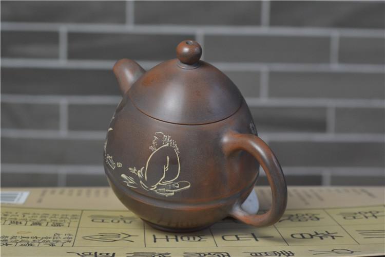 坭兴陶经典壶型龙旦壶