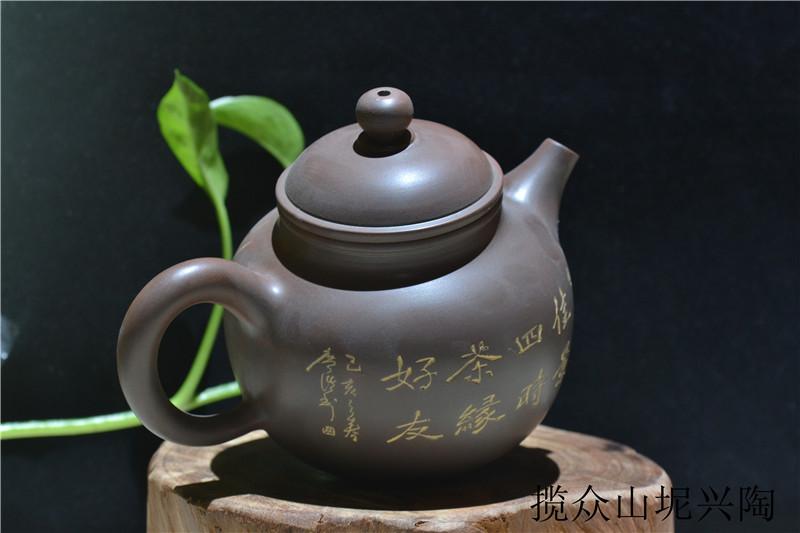 广西坭兴陶茶壶,茶具厂家批发直销