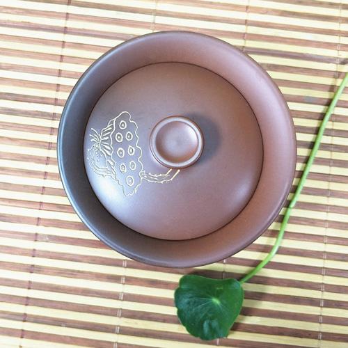 坭兴陶窑变大盖碗,窑变精品大碗盖