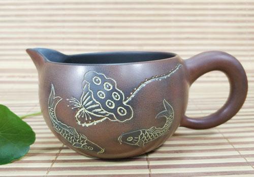 坭兴陶公道杯茶壶
