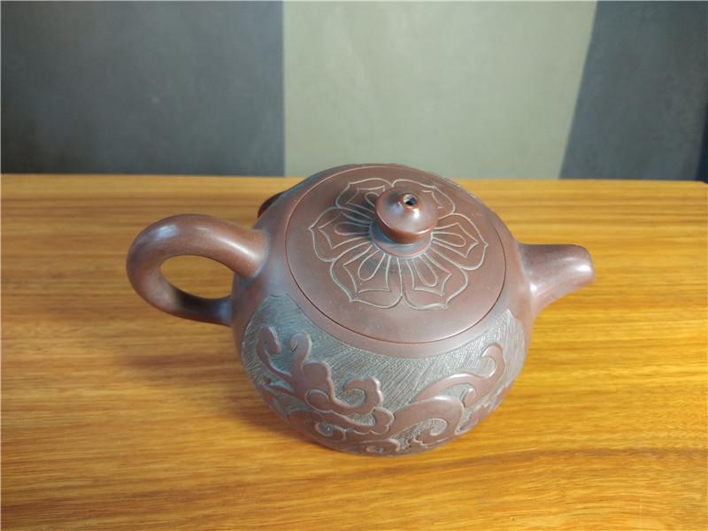 钦州坭兴陶大师张振和生肖龙茶壶