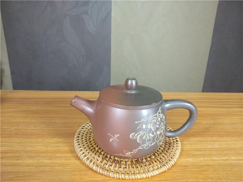 坭兴陶窑变壶张振和大师茶壶