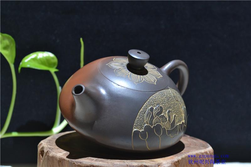 广西坭兴陶望月壶
