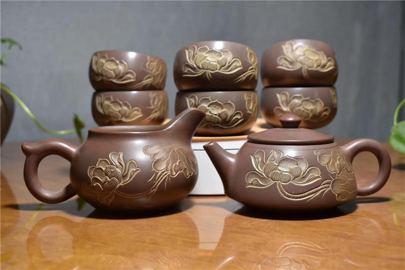 钦州坭兴陶茶具生肖订做